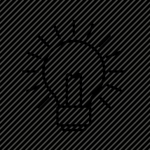 bright, bulb, idea, light, lightbulb, lit, on icon