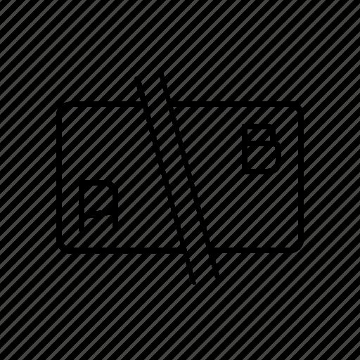 a/b, split, split test, test icon