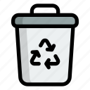 trash can, bin, garbage, recycle, ecology, environment, recycle bin