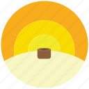 cut, deforest, desert, sunset, trees, wood icon