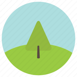 cyprus, environment, hill, trees icon