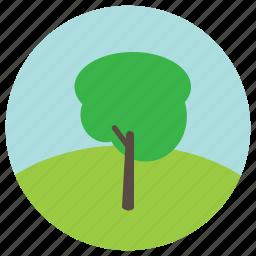 enevironment, hill, sky, tree, trees icon