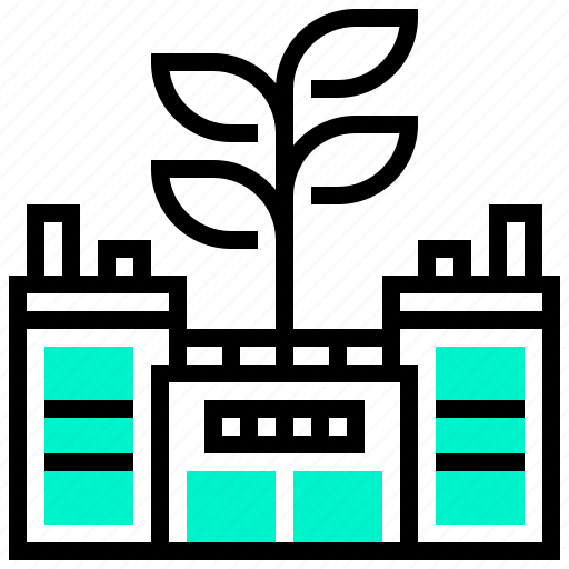 Building, eco, ecology, factory, green icon - Download on Iconfinder