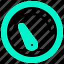 eco, ecology, mile, mileage, speed icon
