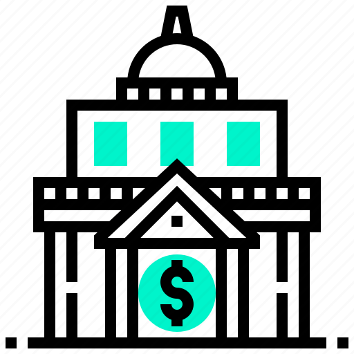 bank, building, financial, institution, investment icon