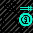 saving, fund, money, cash, currency, bag