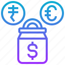 cash, currency, fund, money, mutual, saving icon