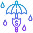 protection, security, shield, umbrella icon