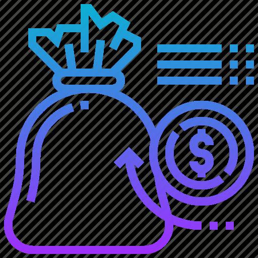 bag, cash, currency, fund, money, saving icon