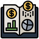 book, business, data, document, finance, graph, manual icon