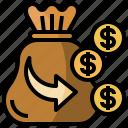 bag, bank, cash, coins, money, profit icon