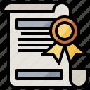 business, degree, files, finance, folders, interface, patent icon