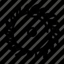 blade, business, carpentry, circular, construction, logo, silhouette icon