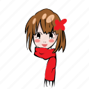 avatar, cute, fashion, seasons, smileys, weather, winter icon