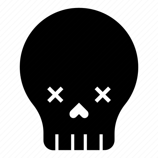 dead, death, emoji, halloween, mask, skull icon