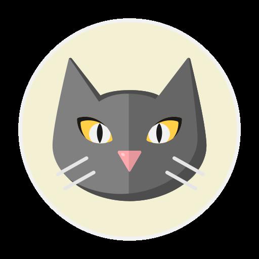 black, cat icon