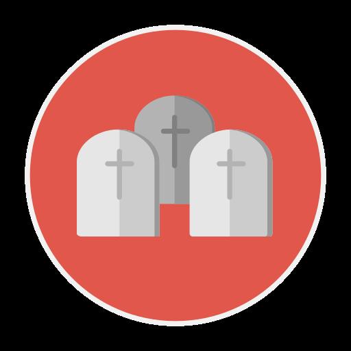 grave, yard icon