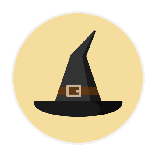 hat, witch icon