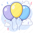 party, balloon, congratulations