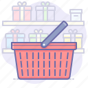 basket, shopping, cart