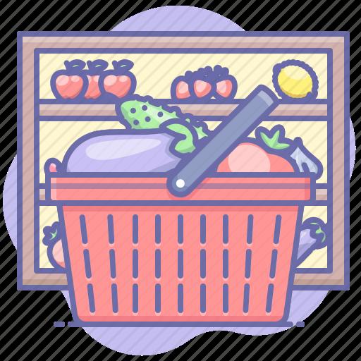basket, market, shopping icon