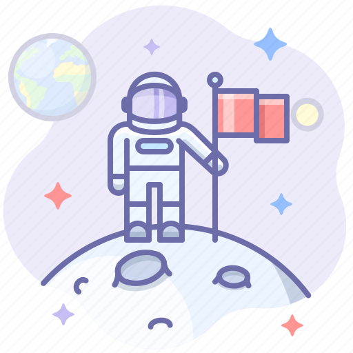 Astronaut, moon, space icon - Download on Iconfinder