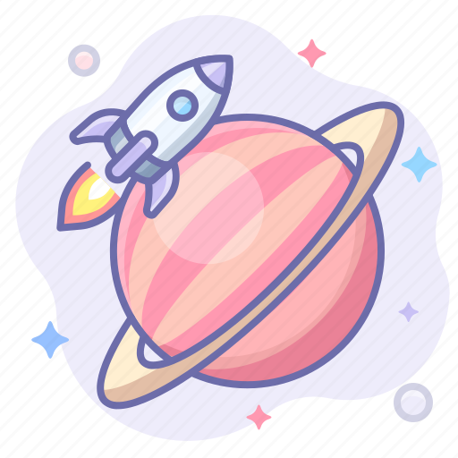 rocket, saturn, space icon