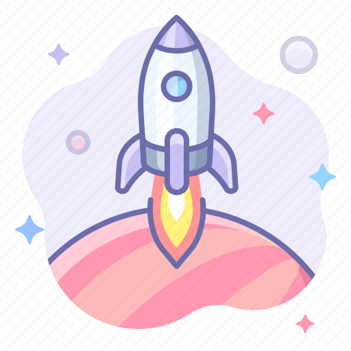 Planet, rocket, space icon - Download on Iconfinder