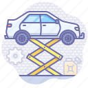 car, service, tuning icon