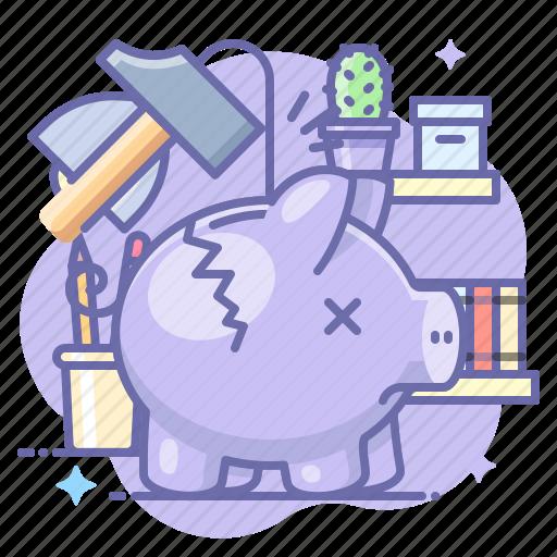 Bank, destroy, piggy icon - Download on Iconfinder