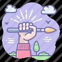 brush, creative, hand icon