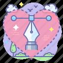 creative, love, pen tool icon