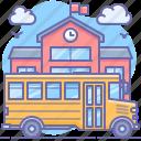 school, bus icon