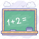 blackboard, education, study icon