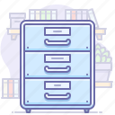 archive, drawer, office icon