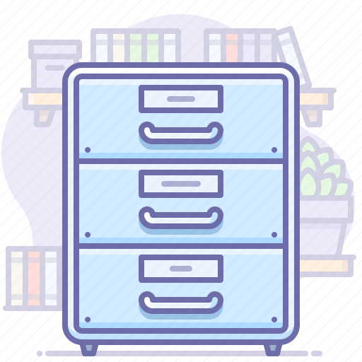 archive, documents, drawer, office icon