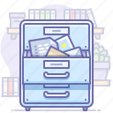 archive, documents, office icon