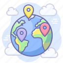 earth, geo targeting, location, pin icon
