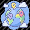 earth, geo targeting, location, pin icon