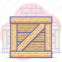 box, warehouse, wooden icon