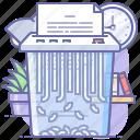 clear, data, destroy, documents, shredder icon