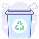 bin, can, recycle, trash icon