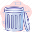 empty, trash bin, trash can icon
