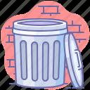 empty, trash bin, trash can icon