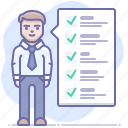 employee, requirements, checklist icon