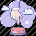 hand, press, start icon