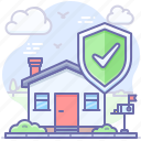 house, home, shield, insurance, safe