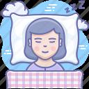 bedtime, pillow, sleep icon