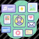 content, media, posts, social