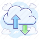 transfer, data, traffic, cloud
